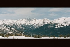 Sauze d'Oulx, Italy. Panorama, 35 mm. No edit (backmango) Tags: noedit nofilter clouds sky colour picoftheday pro flickr ishootfilm 35mm panorama skiing sauzed'oulx snow mountains mountain italia italy analog