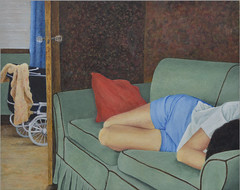 Gillian Lerner, On The Sofa (PA Trails of History) Tags: marysartclass painting alleghenycounty