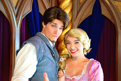 Flynn & Rapunzel (The Disney Marine) Tags: disneyland disney princess rapunzel flynn rider tangled royal theatre fantasy faire
