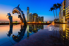 Dolphin Sunset - Hong Kong (davidgutierrez.co.uk) Tags: photography davidgutierrezphotography city art architecture nikond810 nikon urban travel color night blue photographer tokyo paris bilbao hongkong uk hong kong people londonphotographer skyscraper 香港 홍콩 гонконг colors colours colour beautiful cityscape davidgutierrez capital structure ultrawideangle afsnikkor1424mmf28ged 1424mm d810 street arts bluesky vivid vibrant design culture landmark icon iconic worldicon reflections dusk bluehour asia modern contemporary metropolitan metropolis