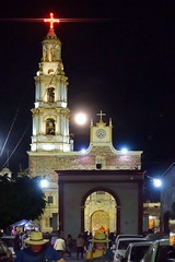 Good Friday (posterboy2007) Tags: ajijic mexico mass night gate church moon sanandrescatholicchurch