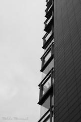 Balconies (Mikko Manner) Tags: nikond7200 tamron18400mmf3563diiivchld building balcony balconies blackandwhite bw iceland reykjavik noise