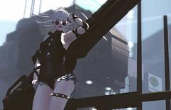 Here I Come (riowyn.slife) Tags: insilico cyberpunk scifi gun cute gingerfish posefair
