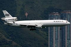 World Airways | McDonnell Douglas MD-11F | N275WA | Hong Kong International (Dennis HKG) Tags: aircraft airplane airport plane planespotting canon 1d 100400 cargo freighter hongkong cheklapkok vhhh hkg world worldairways woa wo md11 mcdonnelldouglas md11f n275wa