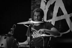 Grade 2, Talking Heads 08-04-2018 29 (Matt_Rayner) Tags: grade2 punk talkingheadssouthampton live concert jacobhull drummer monochrome