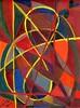 Una Maschera nello Spazio #03 - Artist: Leon 47 ( Leon XLVII ) (leon 47) Tags: abstract painting metaphysical metafisica metaphysics enigma surrealism surrealismo triangulism art triangolismo arte astratta windows finestre minimalism minimalismo maschera mask space spazio leon 47 xlvii