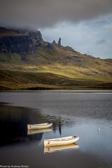 Isle of Skye | The Old Man of Storr | Loch Leathan | Fischerboote (AnBind) Tags: grosbritanien unitedkingdom scottland 2017 ereignisse gb schottland september urlaub scotland vereinigteskönigreich theoldmanofstorr lochleathan isleofskye fischerboote loch
