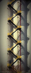 Staircase Shadows (Noah Breakspear) Tags: canada moody port noah breakspear canon eos rebel t5 vancouver shadow yellow leading lines symmetric