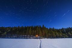 Full Moon (Antti-Jussi Liikala) Tags: winter lake night star trail comet nationalpark kansallispuisto kansallispuistottutuiksi leivonmäenkansallispuisto laavu tähtitaivas joutsa leivonmäki camping wilderness forest suomi finland thisisfinland ourfinland outdoor soimalampi full moon
