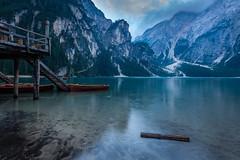Docks of lago di braies (Mario Visser) Tags: pragserwildsee boat docks dolomites fujifilm italy lagodibraies lake landscape mariovisser mountain nature sudtirol tree valley water
