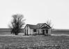 End Of A Dream (John Westrock) Tags: abandoned house blackandwhite rural farmfield trees hartline washington pacificnorthwest canoneos5dmarkiii canon135mmf2lusm