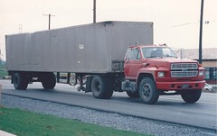Ford F-series on 30 (PAcarhauler) Tags: ford semi truck tractor trailer
