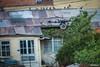 Octocoptero (dron con 8 motores) con el cable guía volando sobre la Avenida del Poeta. (Max Glaser) Tags: cablecar teleferico dron bolivia lapaz southamerica gondola ropeway urbantransport transportation