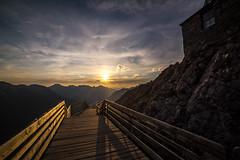 Sunset Walkway (david.vanveen) Tags: sunset mountain walkway boardwalk happy color leading lines banff alberta canada