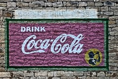 Glen Rose TX (4) (kevystew) Tags: texas somervell glenrose us67 advertisement ad mural cocacola coke