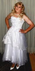 wedding gown (Martina H.) Tags: white dress gown wedding ball girl woman bride blonde elegant satin silk princess