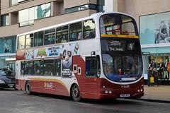 SN08 BXE, Princes Street, Edinburgh, March 1st 2016 (Southsea_Matt) Tags: sn08bxe 892 route4 wright eclipse gemini volvo b9tl princesstreet edinburgh lothian scotland unitedkingdom canon 60d 1850mm march spring 2016 lothianbuses bus omnibus vehicle publictransport passengertransport
