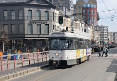 Antwerp PCC Car 7122, Rooseveltplaats Tram & Bus Stop, 10th. April 2018. (Crewcastrian) Tags: antwerp trams transport publictransport pcc m4