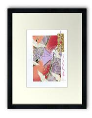 aceo-card-lilac-crane-framed (julie_savard) Tags: aceo origami atc orijuju juliesavard paperart miniature pocketart papercraft paperartist artisttradingcards japaneseart traditionnalart