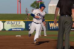 Gallagher running (Minda Haas Kuhlmann) Tags: sports baseball milb minorleaguebaseball pacificcoastleague omahastormchasers nebraska omaha outdoors camgallagher