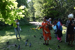 DSC_1956 (photographer695) Tags: wintrade rest recreation hyde park london feeding parakeet birds with justina mutale
