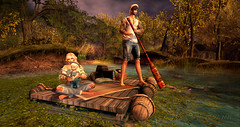 Top 10 Places NOT to Take Your Children On Summer Vacation :) (artfxphotography) Tags: slphotographer lumipro secondlifephotographers tlgriveredges maitreya gianni toddleedoobaby msd stone garden borders elven trees