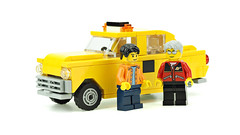 Old Taxi Cab (de-marco) Tags: old taxi cab lego city nyc car vehicle town yellow