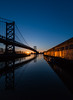 Morning Reflections (MrLoveland) Tags: sunrise sun dawn reflections reflection water river architecture art photography philadelphia city landscape cityscape blue morning silhoutte