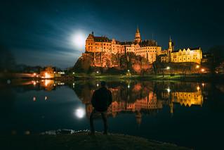Schloss Sigmaringen bei Vollmond