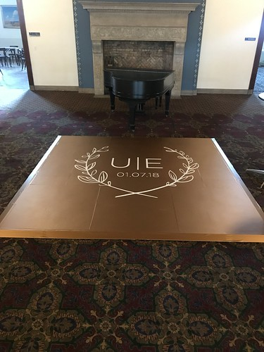 "9'x9' with 6'x6' Monogram Vinyl Wrapped Dance Floor • <a style=""font-size:0.8em;"" href=""http://www.flickr.com/photos/81396050@N06/39446236070/"" target=""_blank"">View on Flickr</a>"