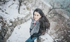 Teodóra (hispan.hun) Tags: portrait portraitphotography portraits portraitlens hispansphotoblog winter cold snow snowstorm hill gellért gellérthill budapest happy happiness smile manualfocus manual hispanhu samyang 35mm