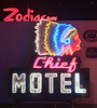 Chief Motel (skipmoore) Tags: museumofneonart mona glendale chiefmotel neon sign collection exhibition