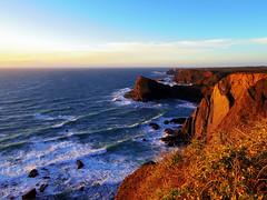 European west coast (52er Bild) Tags: portugal costa vicentina coast küste klippen brandung sonne sonnenuntergang sundown sunset 52erbild pentax q10 udosteinkamp atlantischer atlantic steilküste cliff