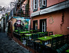 Athenian vibe (Rabican7) Tags: athens greece touristic tavern restaurant greek vibe historic colorful streetphotography old plaka tables architecture painting