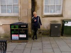 phone and fag (watcher330) Tags: carmarthen woman smoking rubbish bine