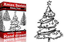 Xmas Series: Xmas Tree (stockgraphicdesigns) Tags: card celebration christmas decoration decorative drawing freehand greeting handdrawn happy holiday merry nature ornamental season tree winter xmas yule yuletide