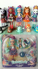 My Enchantimals 💖💖💖 (Big-Eyed) Tags: enchantimals mattel jessajellifish hair dolls collection sageskunk patterpeacock sanchasquirrel cherishcheetah