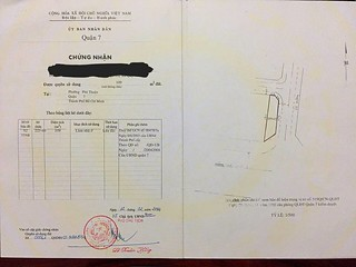 Cần bán lô đất góc 3 MT Đường Hoàng Quốc Việt, Phường Phú Thuận, Quận 7.