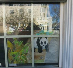 Tuesday Colours - A Panda in a Window (Pushapoze (NMP)) Tags: window panda painting art tableau students eleves