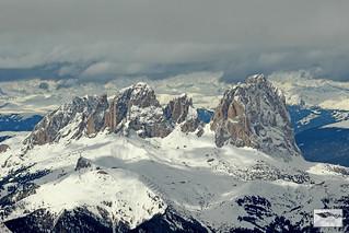 Marmolada 3343 mtr. Trentino Italy Winter