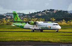 Exotic turboprop 🌴 (Maxime C-M ✈) Tags: caribbean martinique travel island colors exotic aviation beautiful airplane passion photography discover antilles french