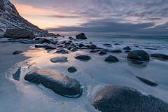 Incoming Tide, Uttakleiv (Keith - Glasgow) Tags: arctic wildphotographyholidays wph beach seascapes winter travel norway sea lofoten uttakleiv rocks landscapes coast d850 shore nordland no