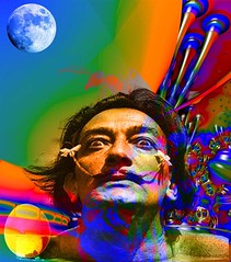 Dream of Salvador Dalí (ICARUSISMARTDESIGNS) Tags: portrait trendy vintage fantasy mythology inspirational surreal dream dali painter water flower blue abstract red new white sunset flowers sky cool contemporary bright case geek retro nature artist fractal modern artistic graphic vivid creative space unique pattern colorful popular color