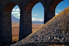 at the bottom of Whernside (DMC Photogallery) Tags: whernside yorkshiredales threepeaks arches ribbleheadviaduct scree hilly silhouette