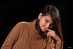 a lovable girl (dim.pagiantzas | photography) Tags: lovable girls teens woman girl women female model portrait face eyes sweety black studio lights spot strobe canon
