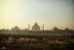 The Taj Mahal Complex (pbmultimedia5) Tags: taj mahal building architecture landscape agra india mist cloudy pbmultimedia