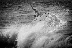 Hanging Loose - North Shore, Ohaua, Hawaii (Slipshod Photog) Tags: surfing beach nikon d7100 travel photography island ocean blackandwhite vacation hawaii water waves haleiwa unitedstates us