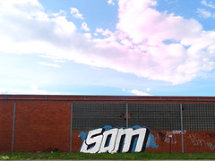 Sam or Som? (peterpe1) Tags: sam grafitti flickr peterpe1 witten sky himmel