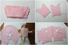 3. Assembly begins (Foxy Belle) Tags: handmade sew how tutorial make coat skipper barbie doll vintage swing spring pink cotton sister ooak diy