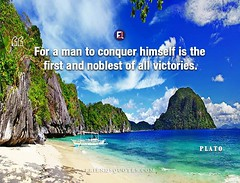 Plato Quote For man conquer himself (Friends Quotes) Tags: conquer first for greek himself man noblest philosopher plato popularauthor victories